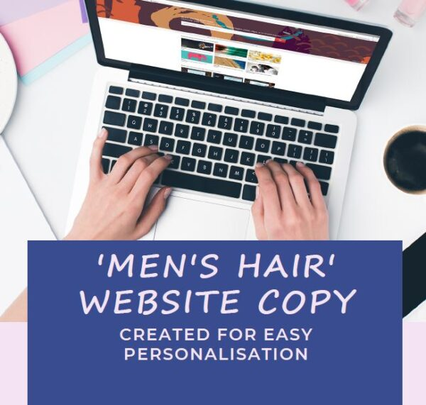 copy for the mens hair page on your website